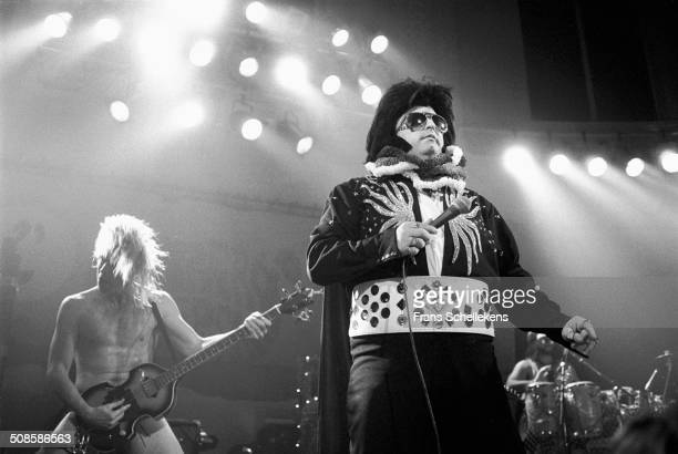 Gregg Tortell performs with Dread Zeppelin at the Paradiso on 29th November 1990 in Amsterdam, Netherlands.