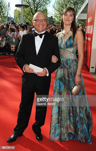 Gregg Wallace and a guest arrive at the BAFTA Television Awards 2009, at the Royal Festival Hall on April 26, 2009 in London, England.