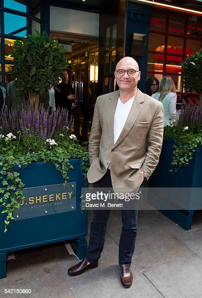 Gregg Wallace at the unveiling of Quentin Blake's 'Life Under the Atlantic' series to launch the J Sheekey Atlantic Bar and new terrace at J Sheekey...