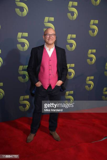 Gregg Wallace attends the Channel 5 2020 Upfront photocall at St. Pancras Renaissance London Hotel on November 19, 2019 in London, England.