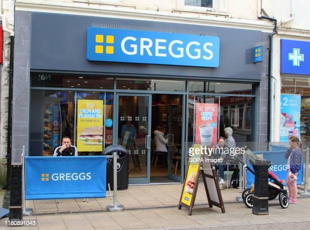 Greggs bakery store seen on the high street in Devon
