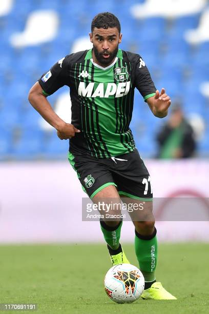 Gregoire Defrel of US Sassuolo in action during the Serie A football match between US Sassuolo and SPAL US Sassuolo won 30 over SPAL