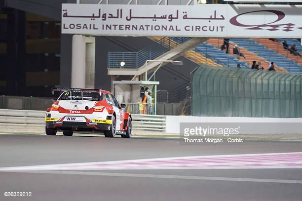 Gregoire Demoustier who drives Citroen for Sebastian Loeb Racing during the final round of the FIA World Touring Car Championship at Losail Circuit...