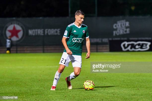 Gregoire Lefebvre of Red Star during the French Ligue 2 match between Red star and Lorient at Stade Pierre Brisson on September 14 2018 in Beauvais...