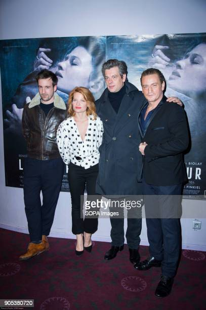 Gregoire Leprince Ringuet Melanie Thierry Benjamin Biolay and Benoit Magimel at the premiere of 'La Douleur' at the cinema Gaumont Opera in Paris