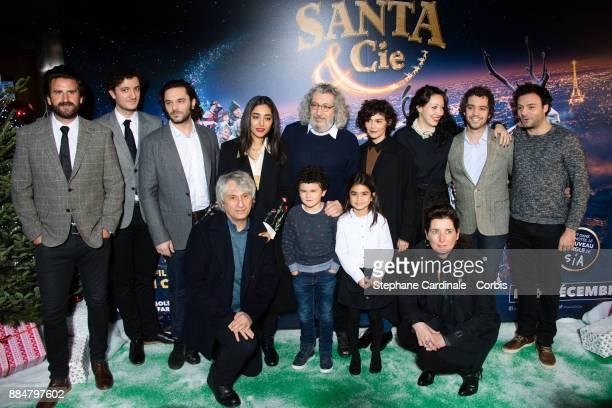 "Gregoire Ludig, David Marsais, Pio Marmai, Golshifteh Farahani, Alain Chabat, Audrey Tautou, Louise Chabat, Bruno Sanches and guest attend the ""Santa..."