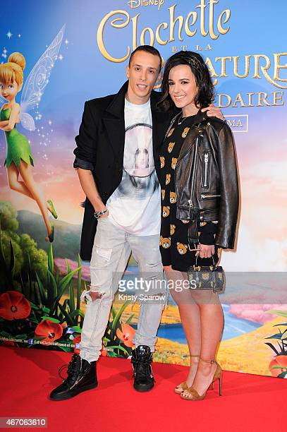 Gregoire Lyonnet and Alizee attend the 'Tinkerbell and The Legend of the Neverbeast' Paris Premiere at Gaumont Champs Elysees on March 20 2015 in...