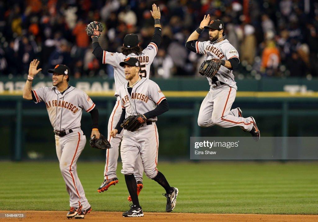 World Series - San Francisco Giants v Detroit Tigers - Game 3 : News Photo