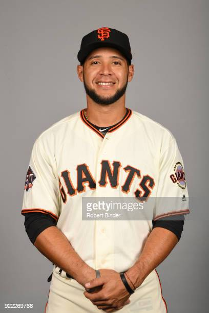 Gregor Blanco of the San Francisco Giants poses during Photo Day on Tuesday February 20 2018 at Scottsdale Stadium in Scottsdale Arizona