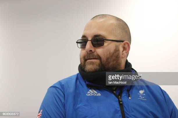 Gregor Ewan is photographed at announcement of the ParalympicsGB Wheelchair Curling Team at The National Curling Centre on January 10 2018 in...