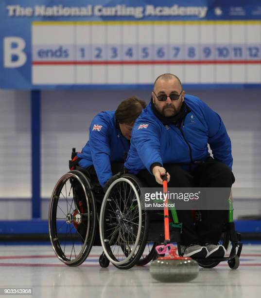 Gregor Ewan is seen at announcement of the ParalympicsGB Wheelchair Curling Team at The National Curling Centre on January 10 2018 in Stirling...