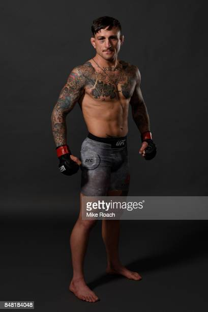 Gregor Gillespie poses for a post fight portrait backstage during the UFC Fight Night event inside the PPG Paints Arena on September 16 2017 in...