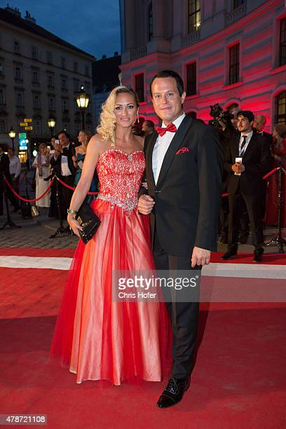 Gregor Glanz and Daniela Hentze attend the Fete Imperiale 2015 on June 26 2015 in Vienna Austria