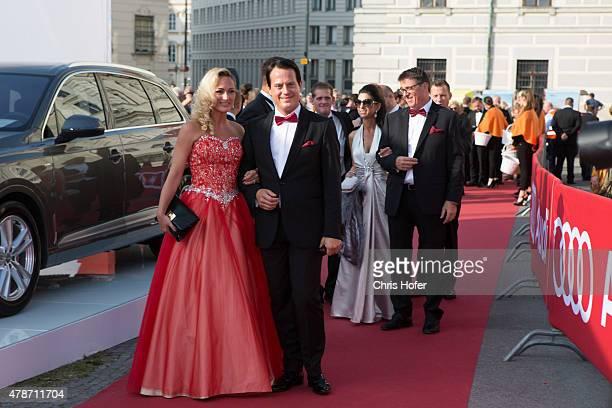Gregor Glanz and Daniela Hentze attend the gala event 450 years Spanische Hofreitschule on June 26 2015 in Vienna Austria