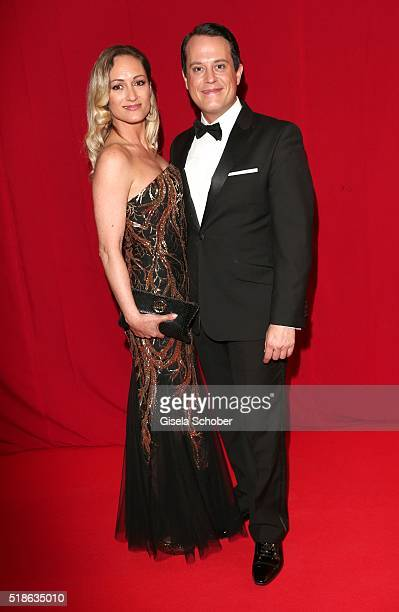 Gregor Glanz and Daniela Hentze during the 7th 'Filmball Vienna' at City Hall on April 1 2016 in Vienna Austria