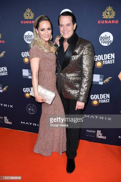 Gregor Glanz and his girlfriend Daniela Hentze attend the Movie Meets Media during the 70th Berlinale International Film Festival Berlin at Hotel...