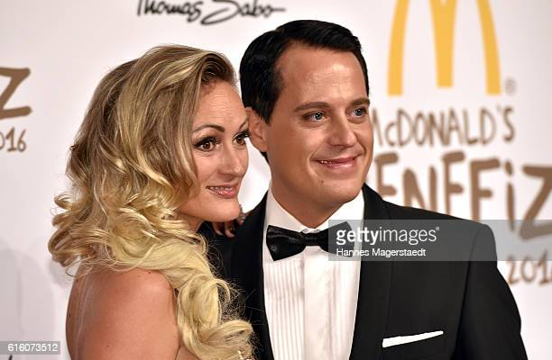 Gregor Glanz and his girlfriend Daniela Hentze during the McDonald's charity gala at Hotel Bayerischer Hof on October 21 2016 in Munich Germany