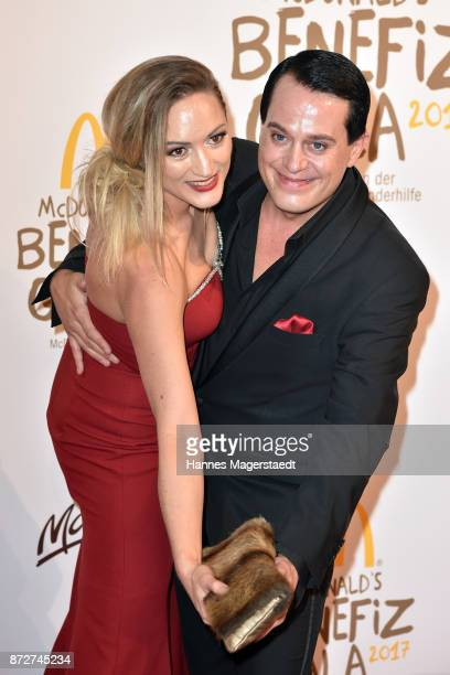 Gregor Glanz and his girlfriend Daniela Hentze during the McDonald's charity gala at Hotel Bayerischer Hof on November 10 2017 in Munich Germany