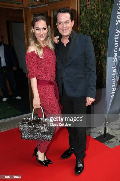 Gregor Glanz and his partner Daniela Hentze during the ChampionsDinner on the occasion of the 70th anniversary of the Bund Deutscher Berufsboxer at...