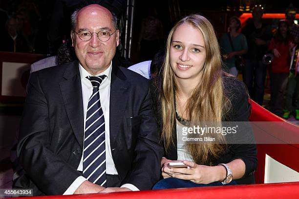 Gregor Gysi and Anna Gysi attend the Circus Krone Berlin Premiere on September 17 2014 in Berlin Germany