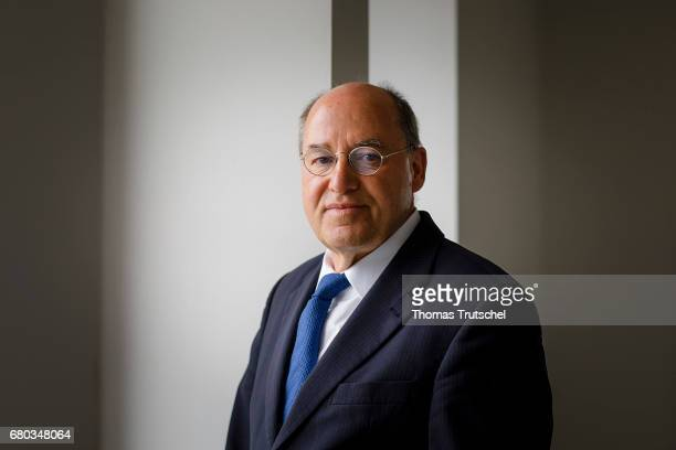 Gregor Gysi DIE LINKE member of German Bundestag poses during a portrait session on May 03 2017 in Berlin Germany