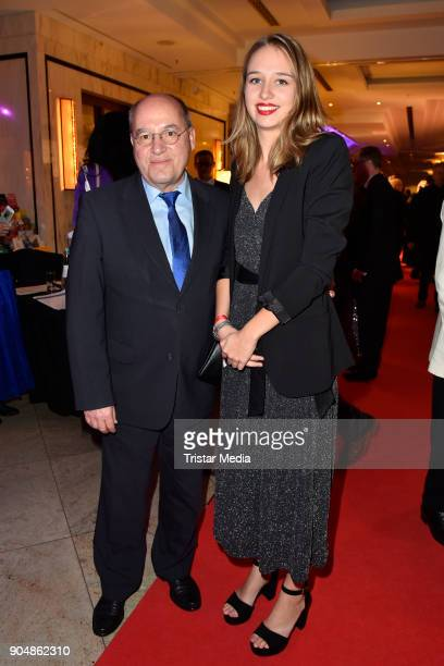 Gregor Gysi with his daughter Anna attend the 117th Press Ball on January 13 2018 in Berlin Germany