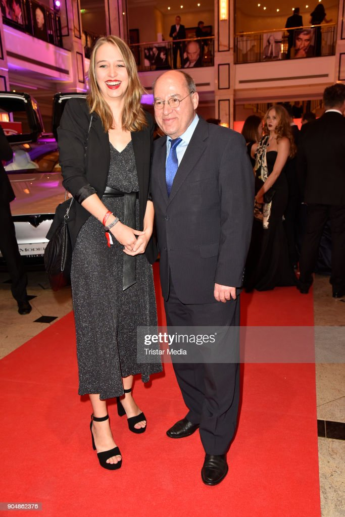 Gregor Gysi with his daughter Anna attend the 117th Press