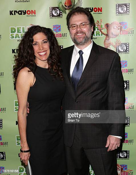 Gregor Habsburg and Jacqueline Habsburg attend 'Delhi Safari' Los Angeles premiere at Pacific Theatre at The Grove on December 3 2012 in Los Angeles...