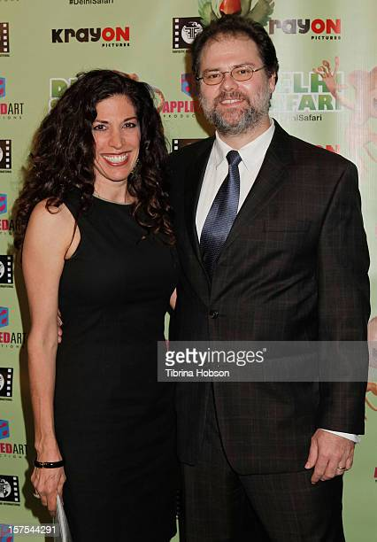 Gregor Habsburg and Jacqueline Habsburg attend the Delhi Safari Los Angeles premiere at Pacific Theatre at The Grove on December 3 2012 in Los...