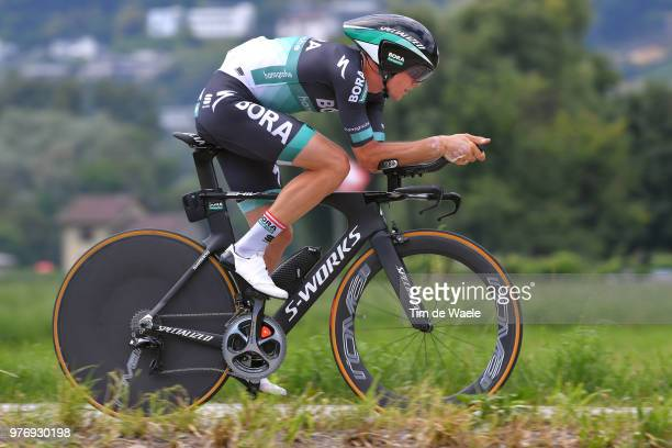Gregor Muhlberger of Austria and Team Bora - Hansgrohe / during the 82nd Tour of Switzerland 2018, Stage 9 a 34,1km individual time trial stage from...
