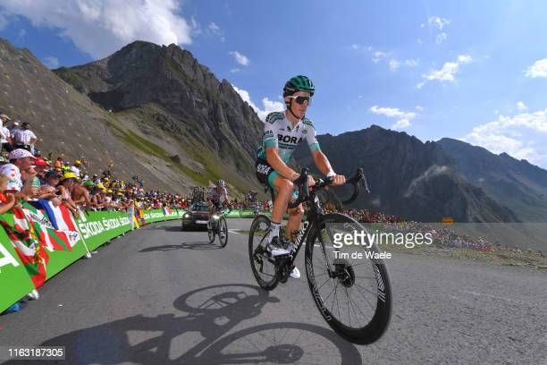 Gregor Muhlberger of Austria and Team Bora-Hansgrohe / Col de Tourmalet / Mountains / Fans / Public / during the 106th Tour de France 2019, Stage 14...