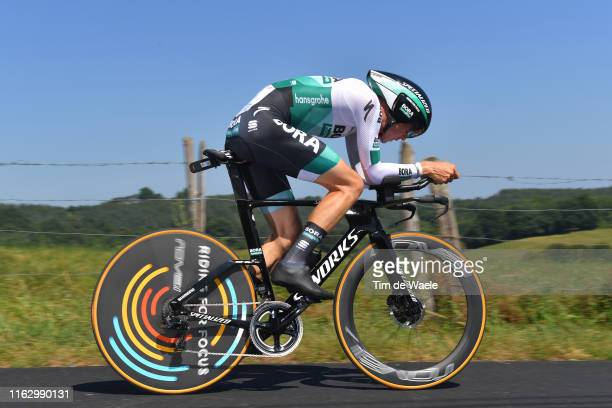 Gregor Muhlberger of Austria and Team Bora-Hansgrohe / during the 106th Tour de France 2019 - Stage 13 a 27,2km Individual Time Trial Stage from Pau...