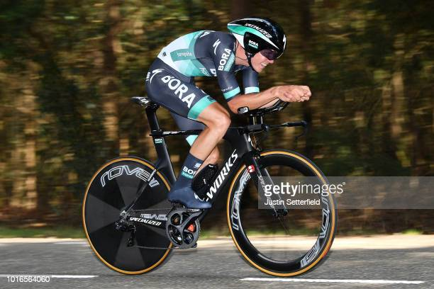 Gregor Muhlberger of Austria and Team Bora-Hansgrohe / during the 14th BinckBank Tour 2018, Stage 2 a 12,7km Individual Time Trial stage from Venray...