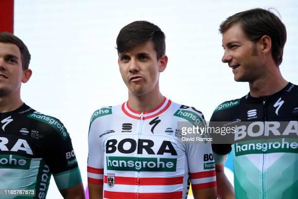 Gregor Muhlberger of Austria and Team Bora-Hansgrohe / during the 39th Clasica Ciclista San Sebastian 2019, Team Presentation / @ehitzulia / on...