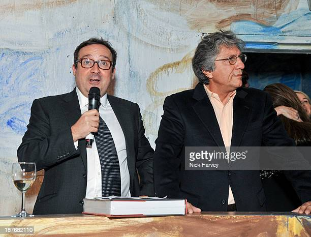 Gregor Muir and Hossein Amirsadeghi attend the book launch of Art Studio America at ICA on November 11, 2013 in London, England.