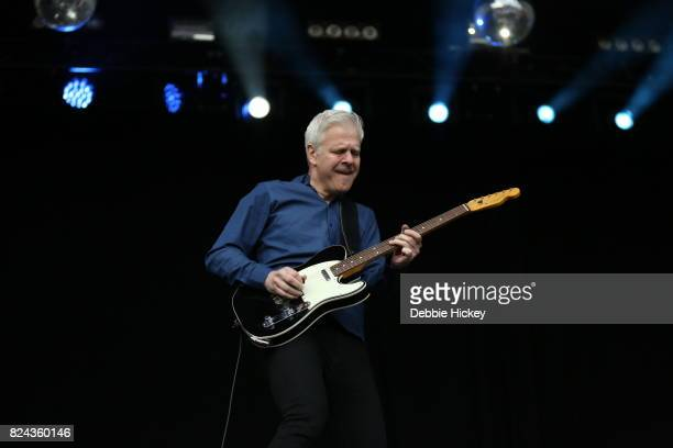 Gregor Philp of Scottish pop rock band Deacon Blue performs on stage at Punchestown Music Festival at Punchestown Racecourse on July 29 2017 in Naas...