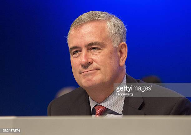 Gregor Pottmeyer chief financial officer of Deutsche Boerse AG looks on during the German stock exchange's annual general meeting in Frankfurt...