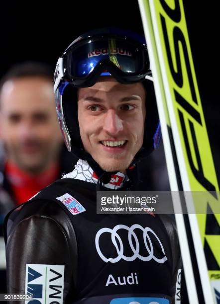 Gregor Schlierenzauer of Austria before his competetion jump of the FIS Nordic World Cup Four Hills Tournament on January 6 2018 in Bischofshofen...