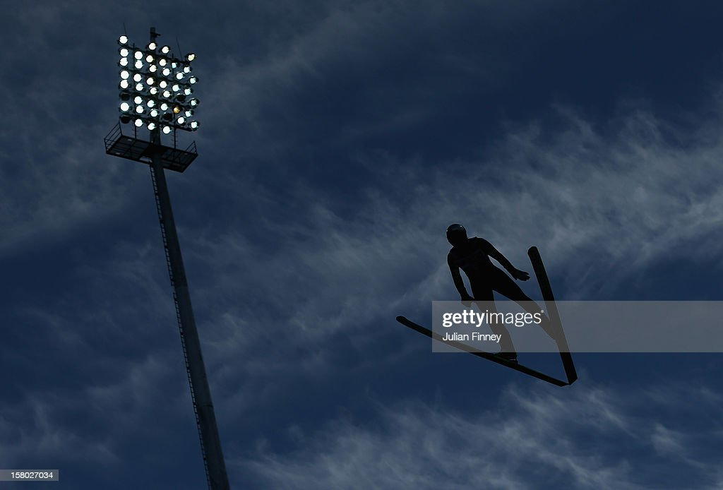 Gregor Schlierenzauer of Austria competes in a Ski Jump during the FIS Ski Jumping World Cup at the RusSki Gorki venue on December 9, 2012 in Sochi, Russia.