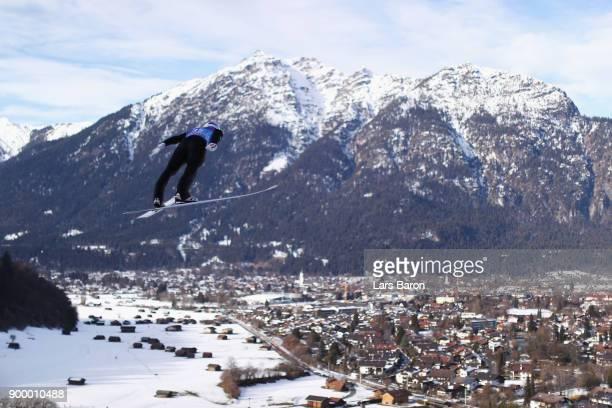 Gregor Schlierenzauer of Austria competes in the FIS Nordic World Cup Four Hills Tournament on December 31 2017 in GarmischPartenkirchen Germany