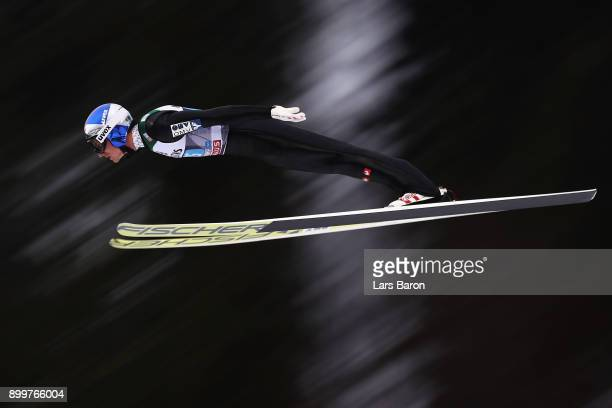 Gregor Schlierenzauer of Austria competes on day 2 of the FIS Nordic World Cup Four Hills Tournament ski jumping event on December 30 2017 in...