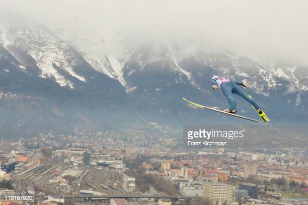 Gregor Schlierenzauer of Austria during the competiton on day 6 of the 68th FIS Nordic World Cup Four Hills Tournament ski jumping event at Bergisel...