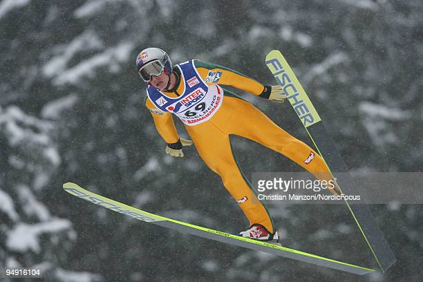 Gregor Schlierenzauer of Austria during the Individual Large Hill competition of the FIS Ski Jumping World Cup on December 19, 2009 in Engelberg,...