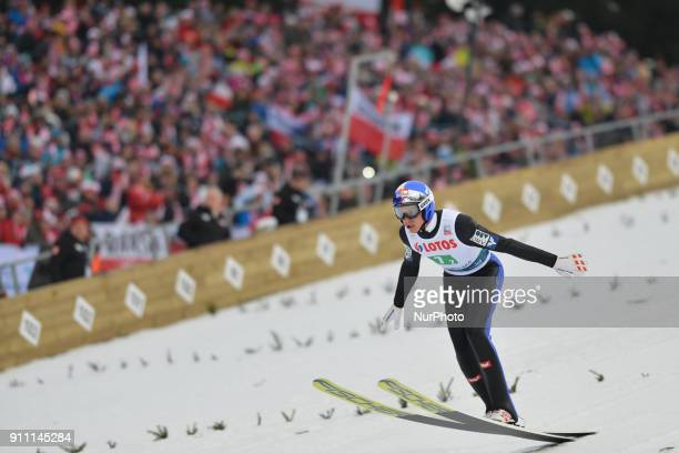Gregor Schlierenzauer of Austria during the Large Hill Team competition at the FIS Ski Jumping World Cup in Zakopane Poland On Saturday 27 January...