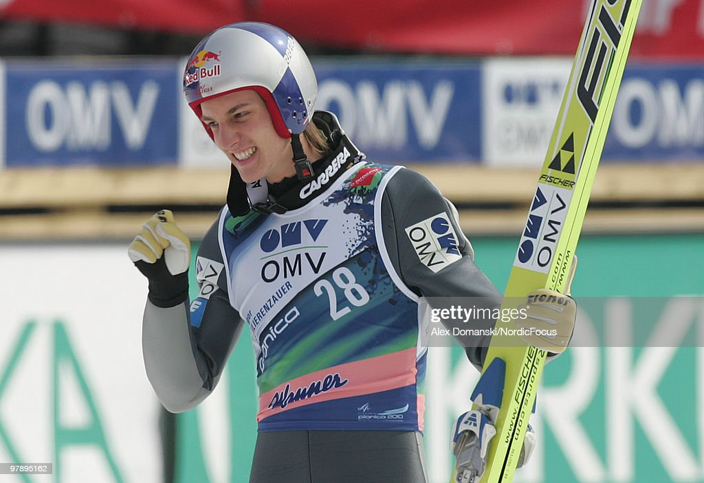 Gregor Schlierenzauer of Austria reacts during the individual event of the Ski jumping World Championships on March 20, 2010 in Planica, Slovenia.