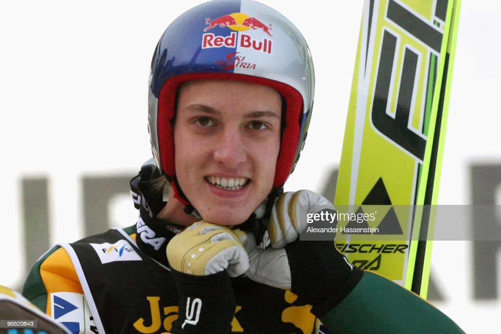 Gregor Schlierenzauer of Austria smiles after winning the FIS Ski Jumping World Cup event of the 58th Four Hills ski jumping tournament at the Olympiaschanze on January 1, 2010 in Garmisch-Partenkirchen, Germany.
