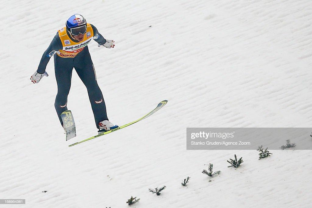 Gregor Schlierenzauer of Austria takes 1st place during the FIS Ski Jumping World Cup Vierschanzentournee (Four Hills Tournament) on January 04, 2013 in Innsbruck, Austria.