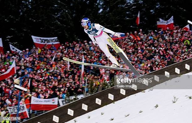 Gregor Schlierenzauer participates in the Ski Jumping World Cup Individual event on January 22 2017 in Zakopane Poland The 2016/2017 FIS Ski Jumping...