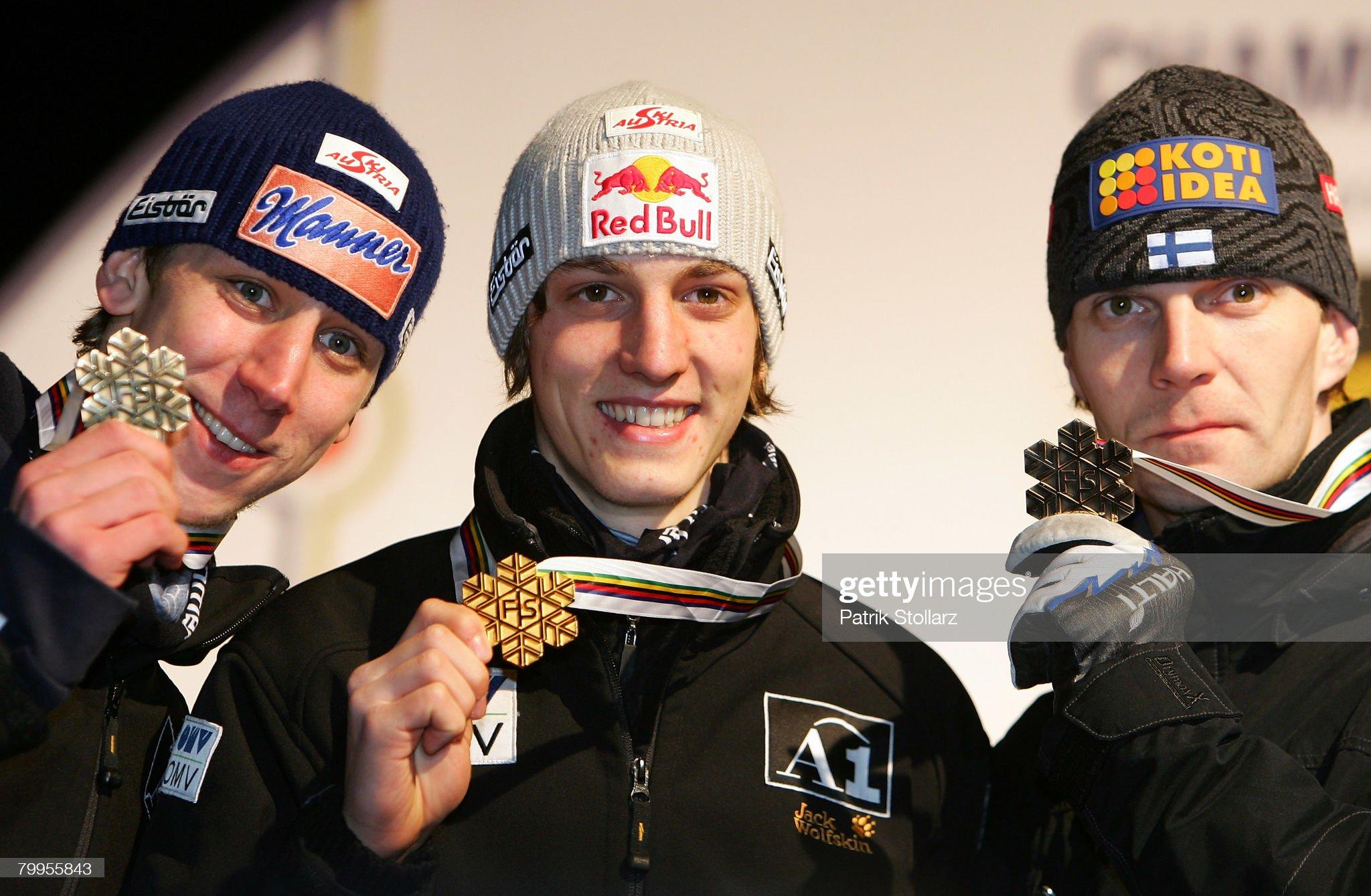 Чемпионат мира по полетам на лыжах 2008: Мартин Кох, Грегор Шлиренцауэр, Янне Ахонен