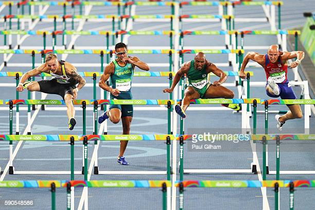 Gregor Traber of Germany Joao Vitor de Oliveira of Brazil Antonio Alkana of South Africa and Petr Svoboda of the Czech Republic compete in the Men's...